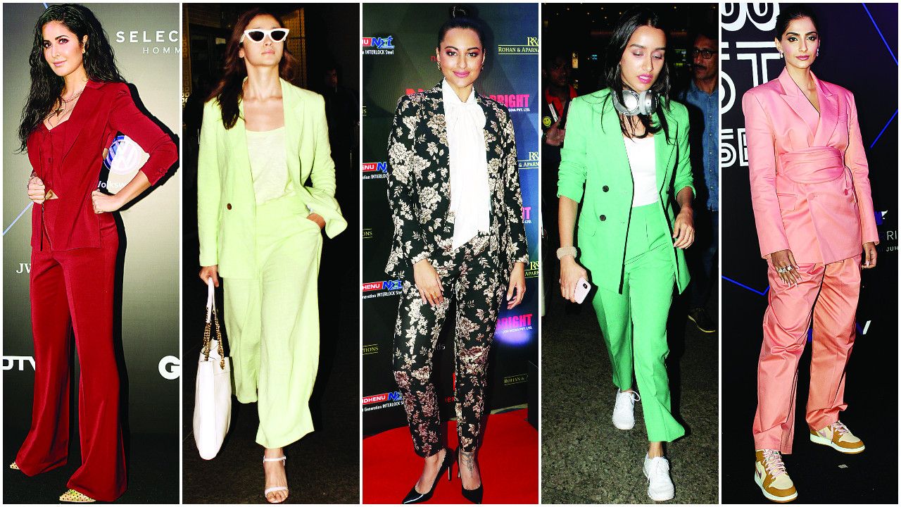 From Katrina Kaif to Alia Bhatt: B-Town ladies opt for power dressing with pantsuits!