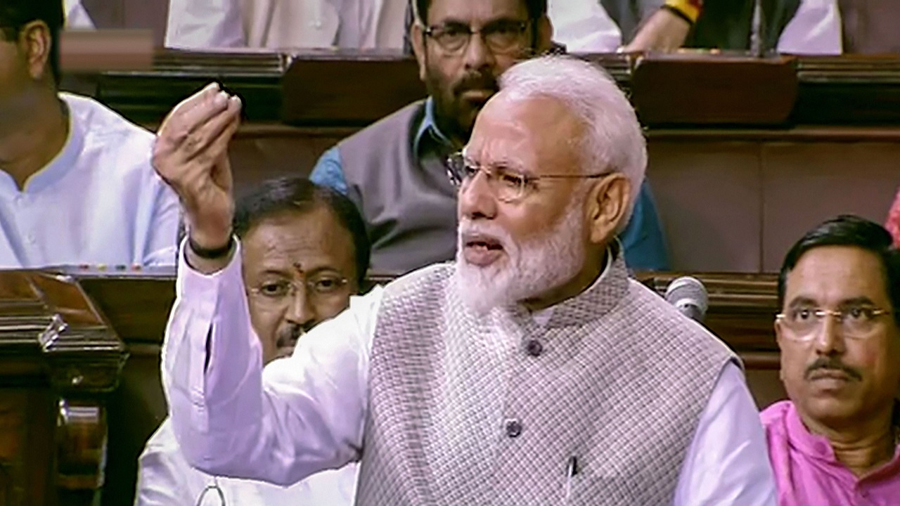 Do we want that 'old India' where scams existed, 'tukde-tukde' gang was supported: PM in Rajya Sabha