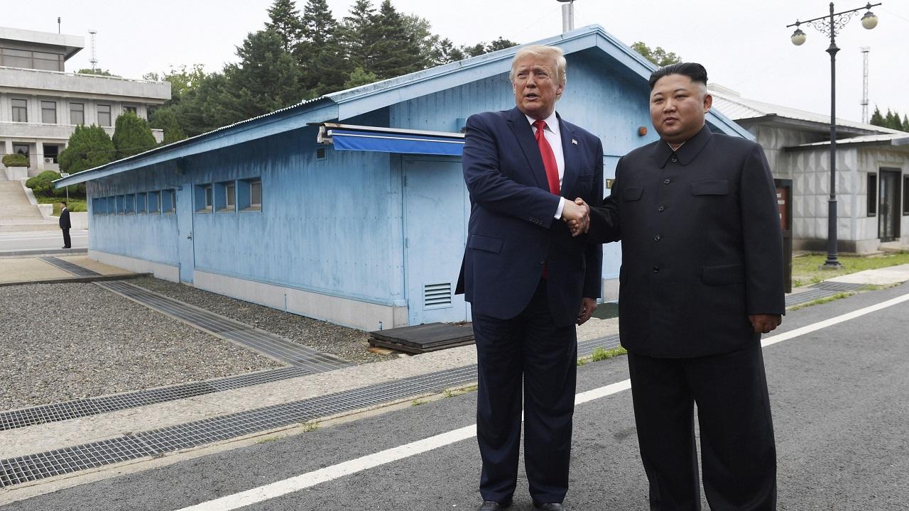 Donald Trump meets Kim Jong Un, becomes first serving US President to cross into North Korea