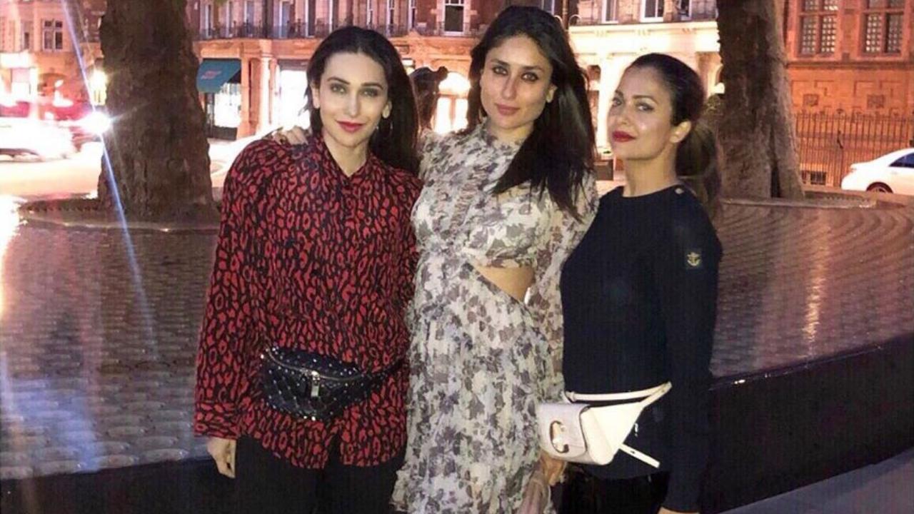 Stylish Trio Kareena Kapoor Khan, Karisma Kapoor and Amrita Arora are inseparable in London