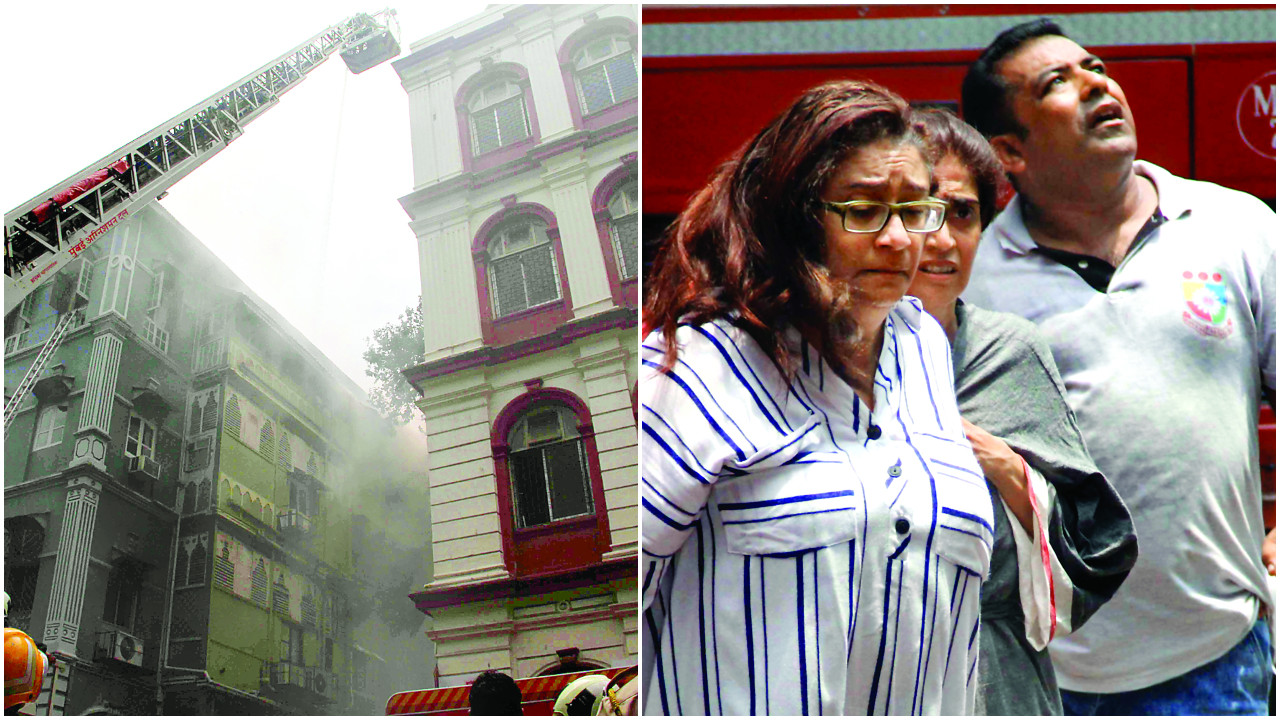 Four-storey South Mumbai building catches fire, one dead