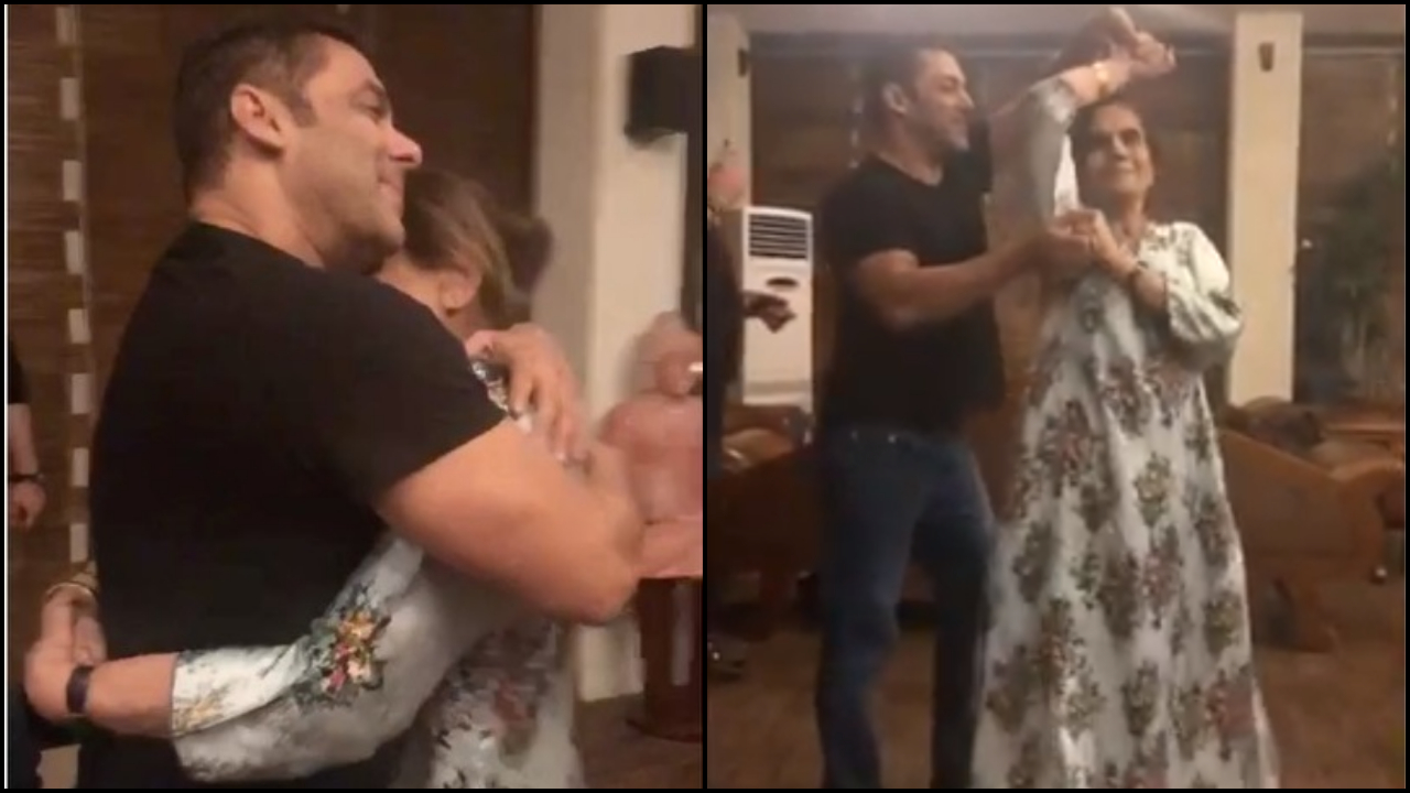 Watch: Salman Khan dancing with his mother Salma Khan on 'Cheap Thrills' show that he will always be a mama's boy