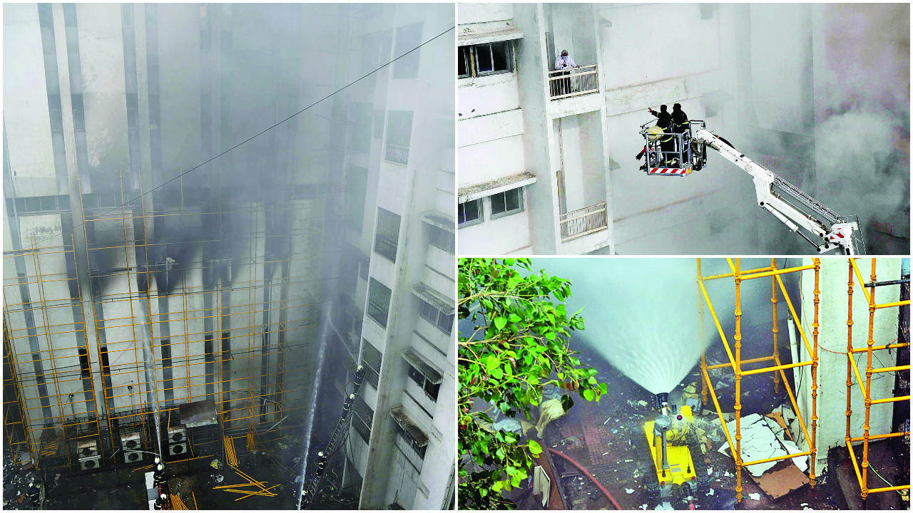 Mumbai: A robot and 70 brave firemen rescue hundreds in MTNL fire