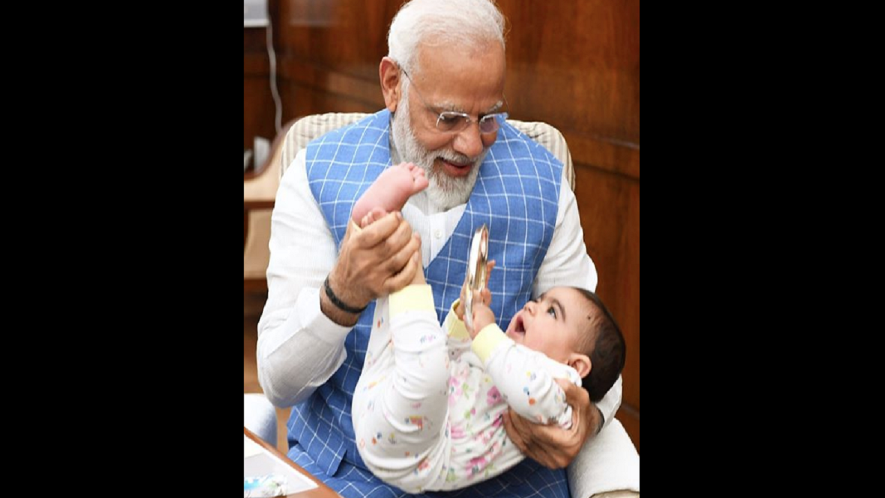 'A very special friend came to meet me in Parliament today': PM Modi shares adorable pictures with a toddler