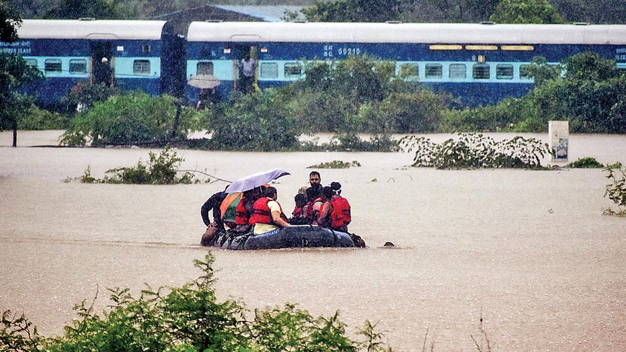 Boulders roll down near Karjat, Mumbai-Pune train service disrupted