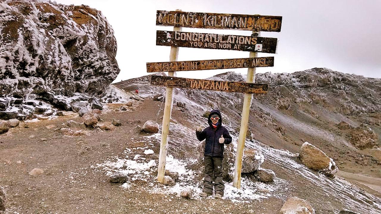 9-yr-old Pune boy climbs Africa's tallest peak Mt Kilimanjaro