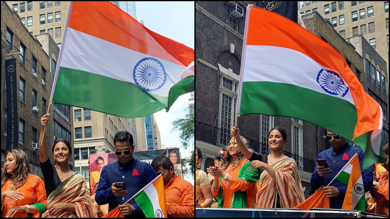 'I endorse the idea that India is in USA', Hina Khan elated on being a part of Independence Day Parade in New York