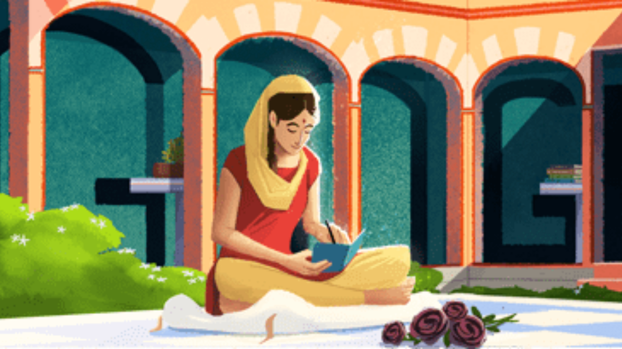 Amrita Pritam's 100th Birth Anniversary: Google Doodle honours writer with references to her autobiography 'Kala Gulab'