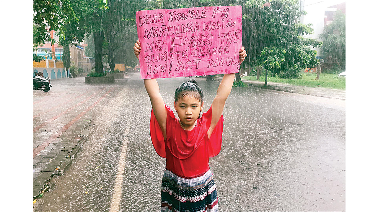 Seven-year-old becomes the youngest green activist