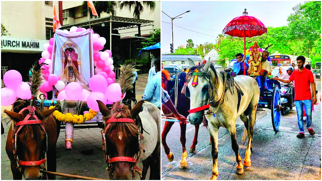 Mumbai: East Indians parade with replica of Mount Mary