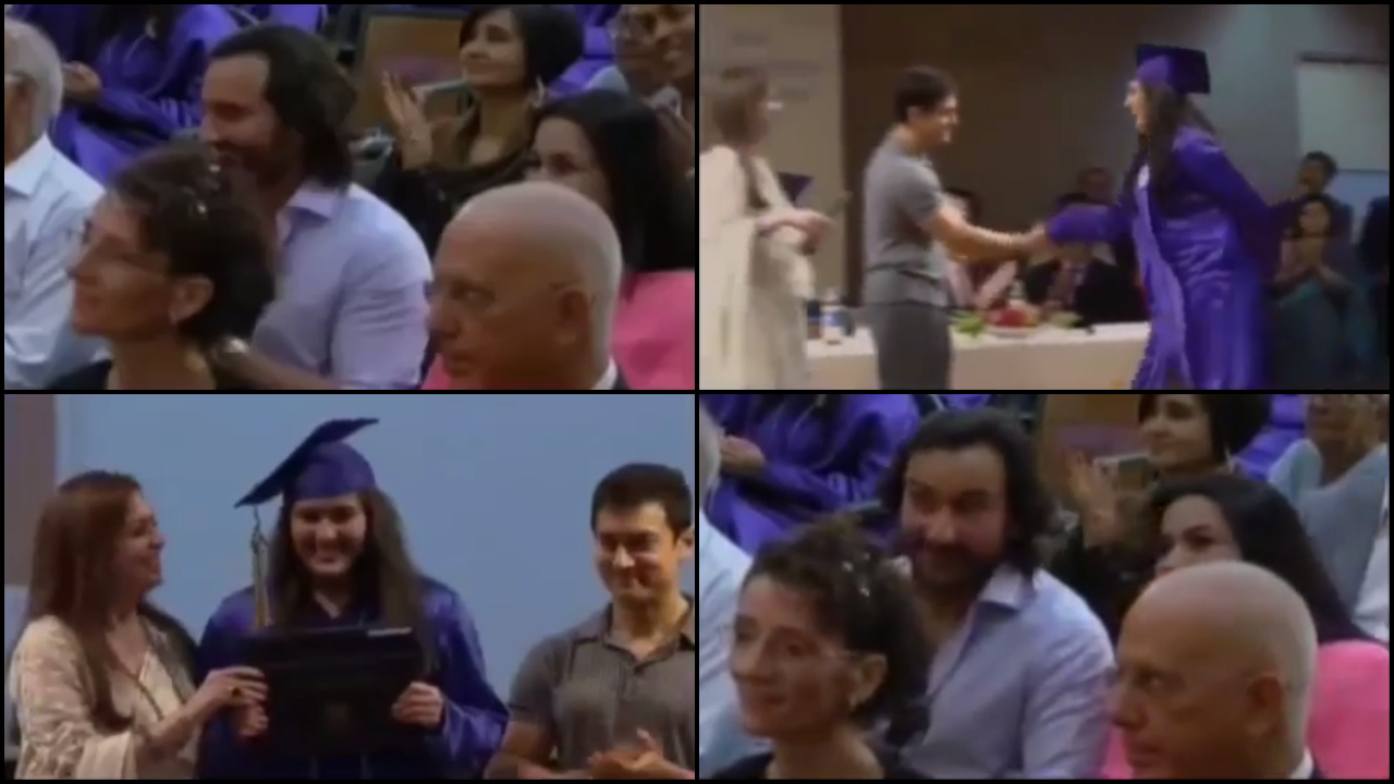 Ex-couple Saif Ali Khan and Amrita Singh cheer for Sara Ali Khan at her graduation ceremony in this throwback video