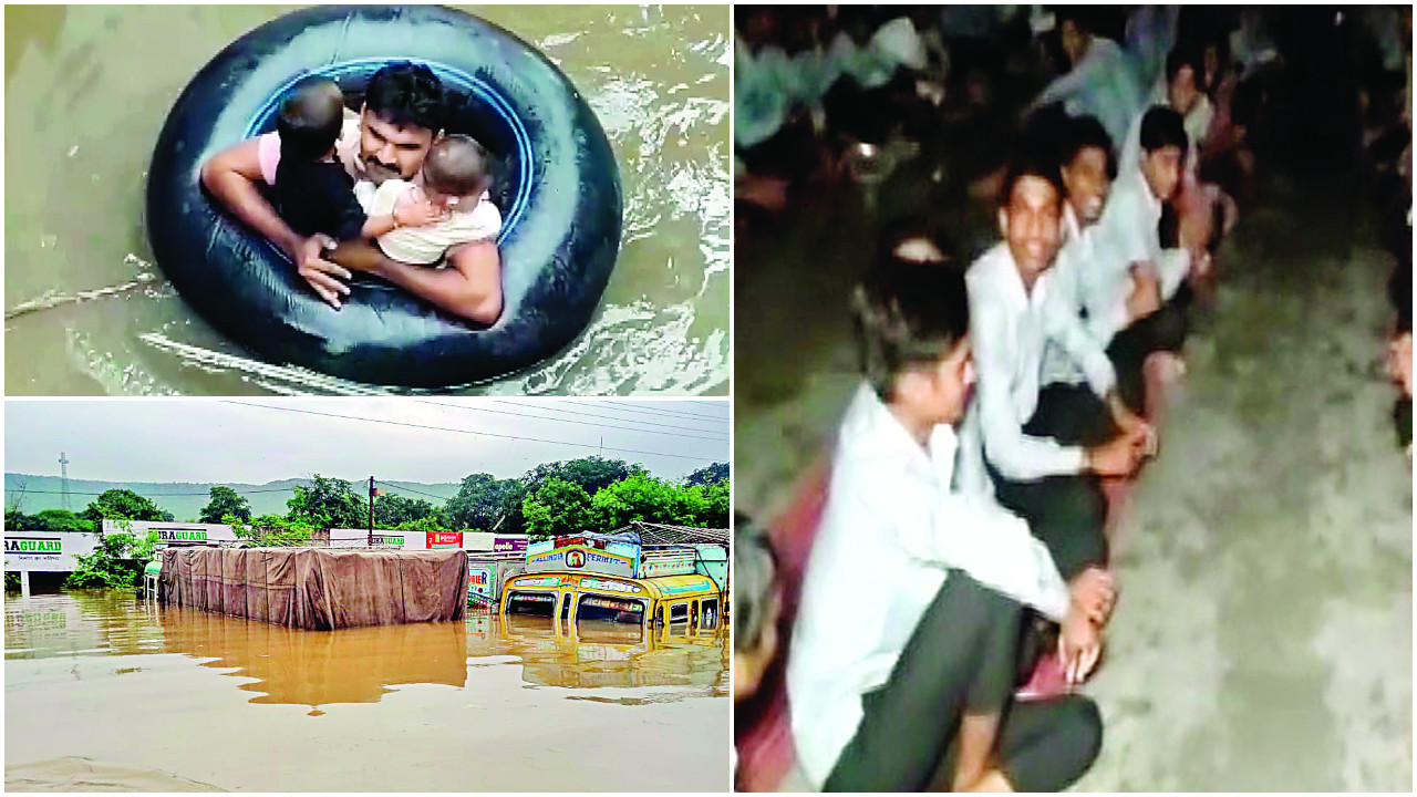 Students stuck in flooded Rajasthan