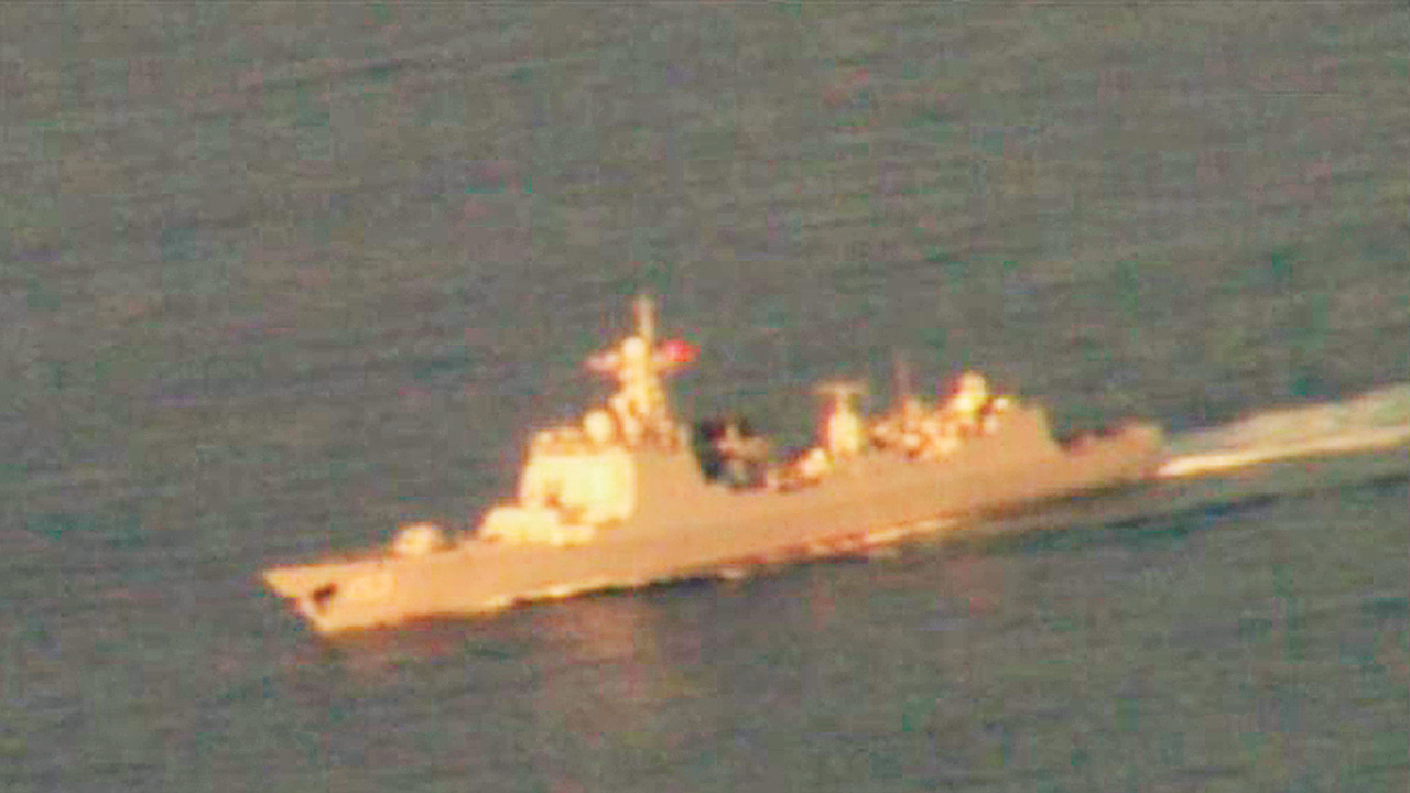 Spy planes spot China warship in south IOR