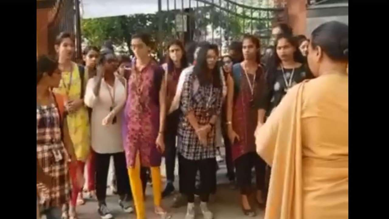 Girl students agitate against Hyderabad college