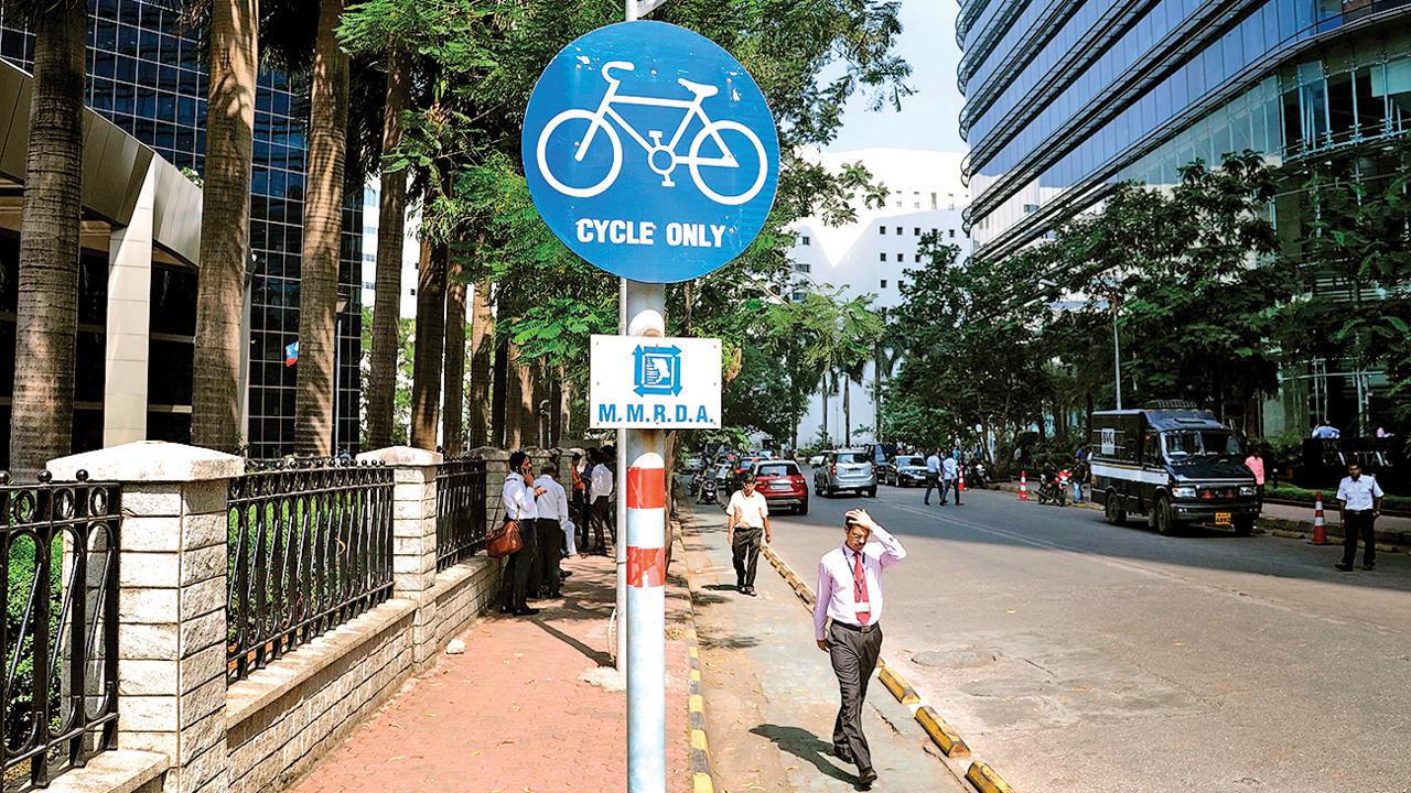 Mumbai: 3 years on, MMRDA to revive its cycle dream at Bandra-Kurla Complex