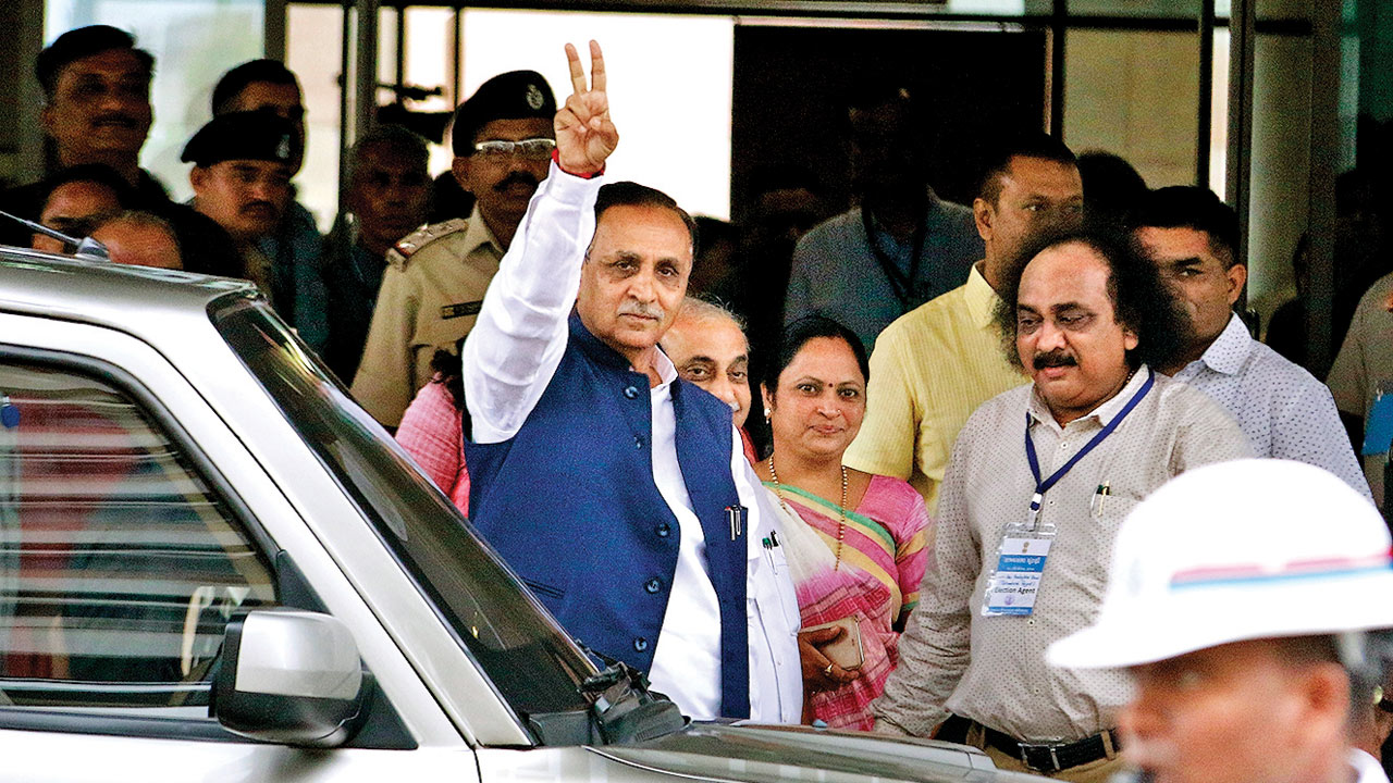 Man held for spreading fake news about CM Vijay Rupani's official car