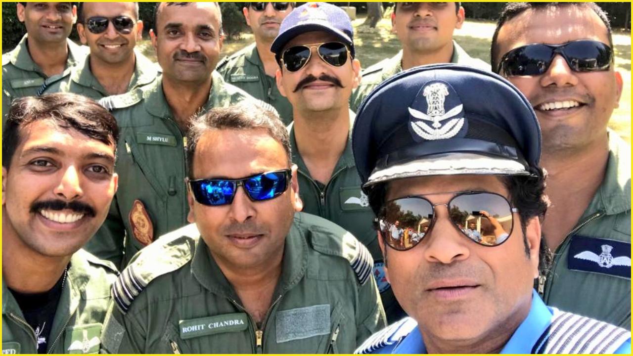Group Captain Sachin Tendulkar celebrates 87th Air Force Day, witnesses IAF's firepower at Hindon Air Base