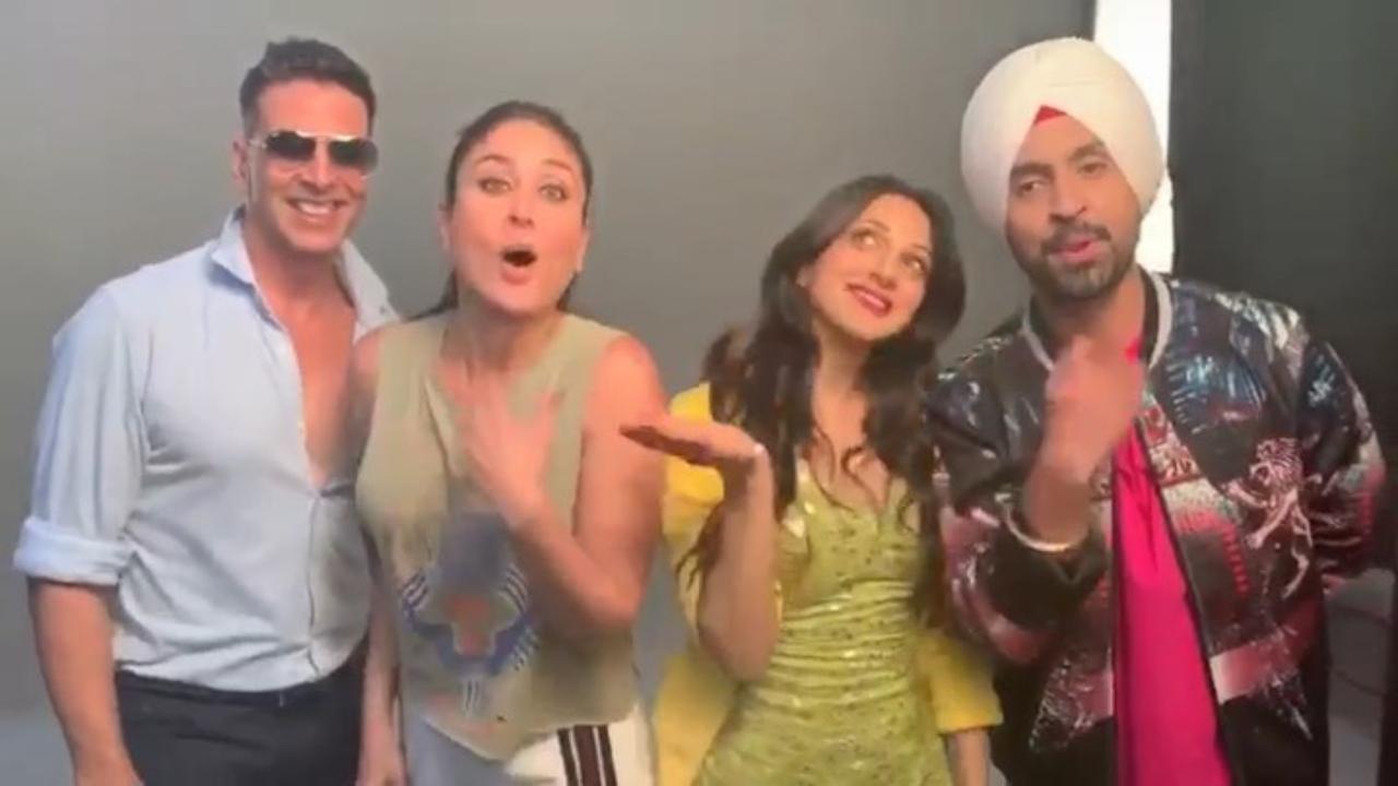 'Good Newwz' team's Bala challenge! Akshay Kumar dances with Kareena Kapoor Khan, Diljit Dosanjh and Kiara Advani