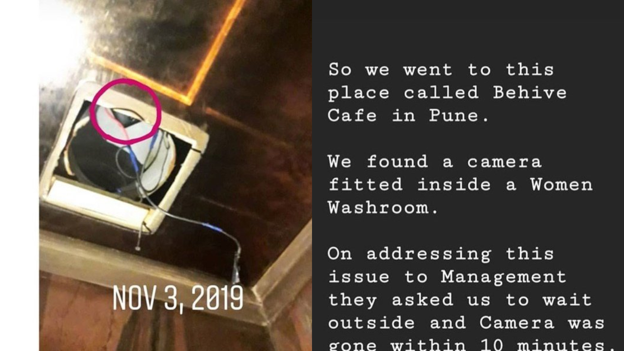 Shocking! Woman finds hidden camera inside loo in Pune cafe, post goes viral