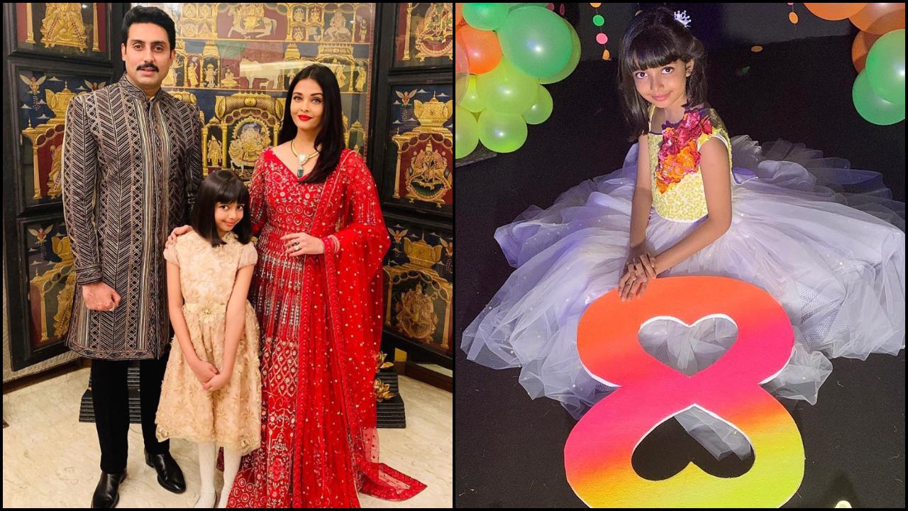Wow! Aishwarya Rai Bachchan, Abhishek Bachchan, Aaradhya Bachchan pose for a picture-perfect royal portrait