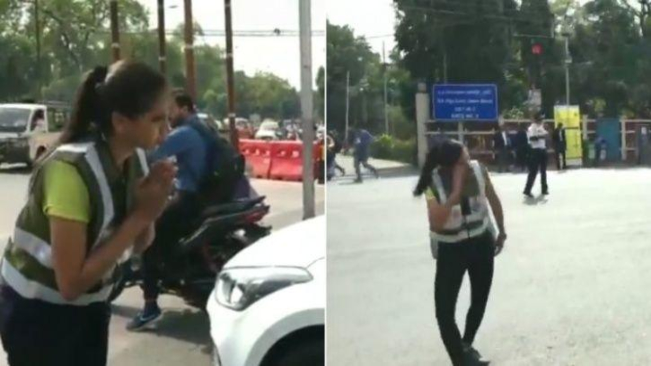 MBA student uses quirky dance style to spread traffic awareness in Indore, video goes viral