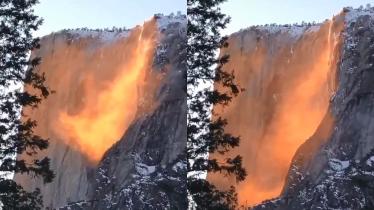 Watch: This viral video of 'firefall' will leave you awestruck!