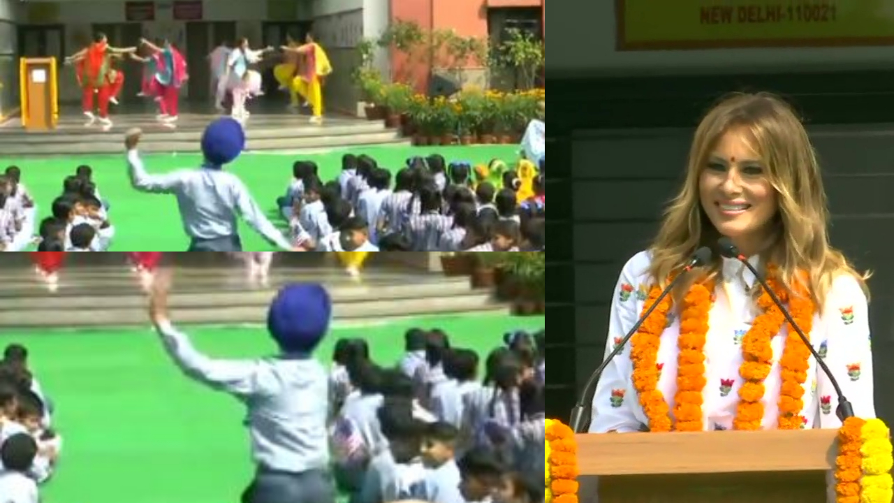 Watch: This little Sardar's dance moves during Melania Trump's school visit is just adorable