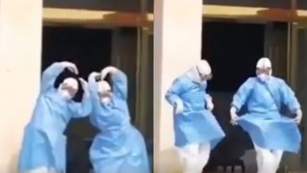 2 Chinese doctors dance to celebrate recovery of coronavirus patients, Twitter heaps praises