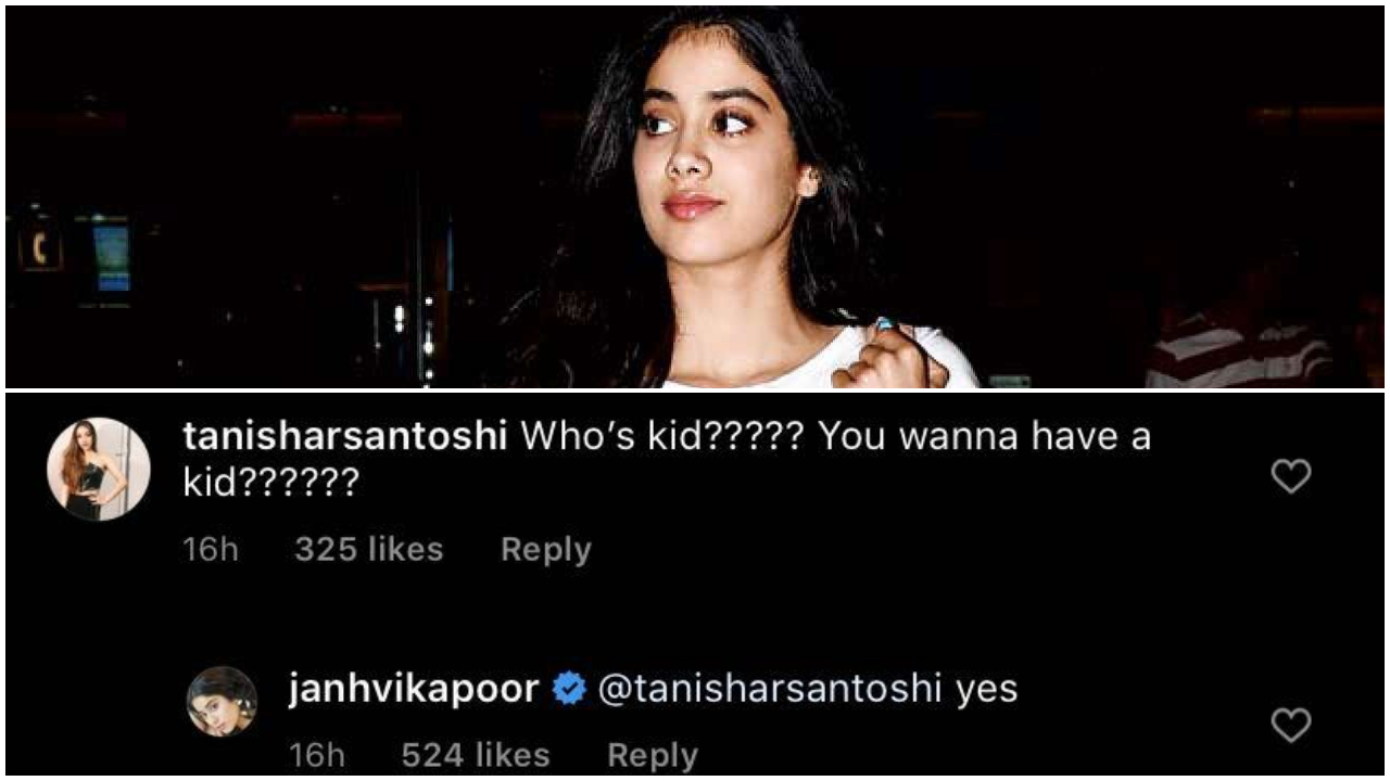 Janhvi Kapoor jokes about wanting to have a kid; see pic