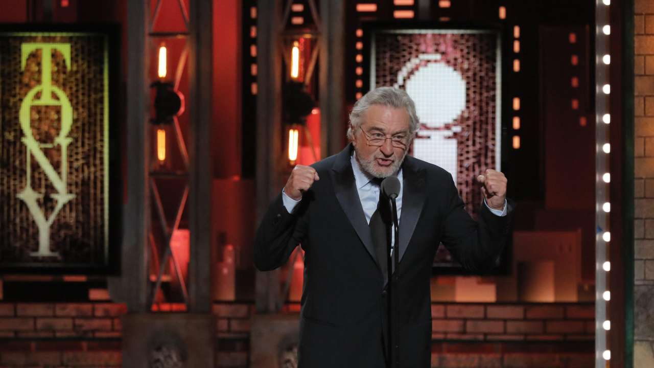 'F--- TRUMP': Robert De Niro bleeped at Tony Awards