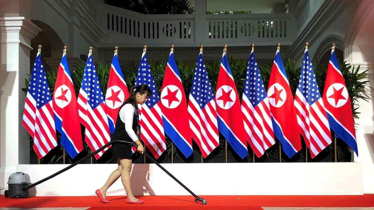 Trump, Kim arrive at summit venue for historic US-North Korea meeting
