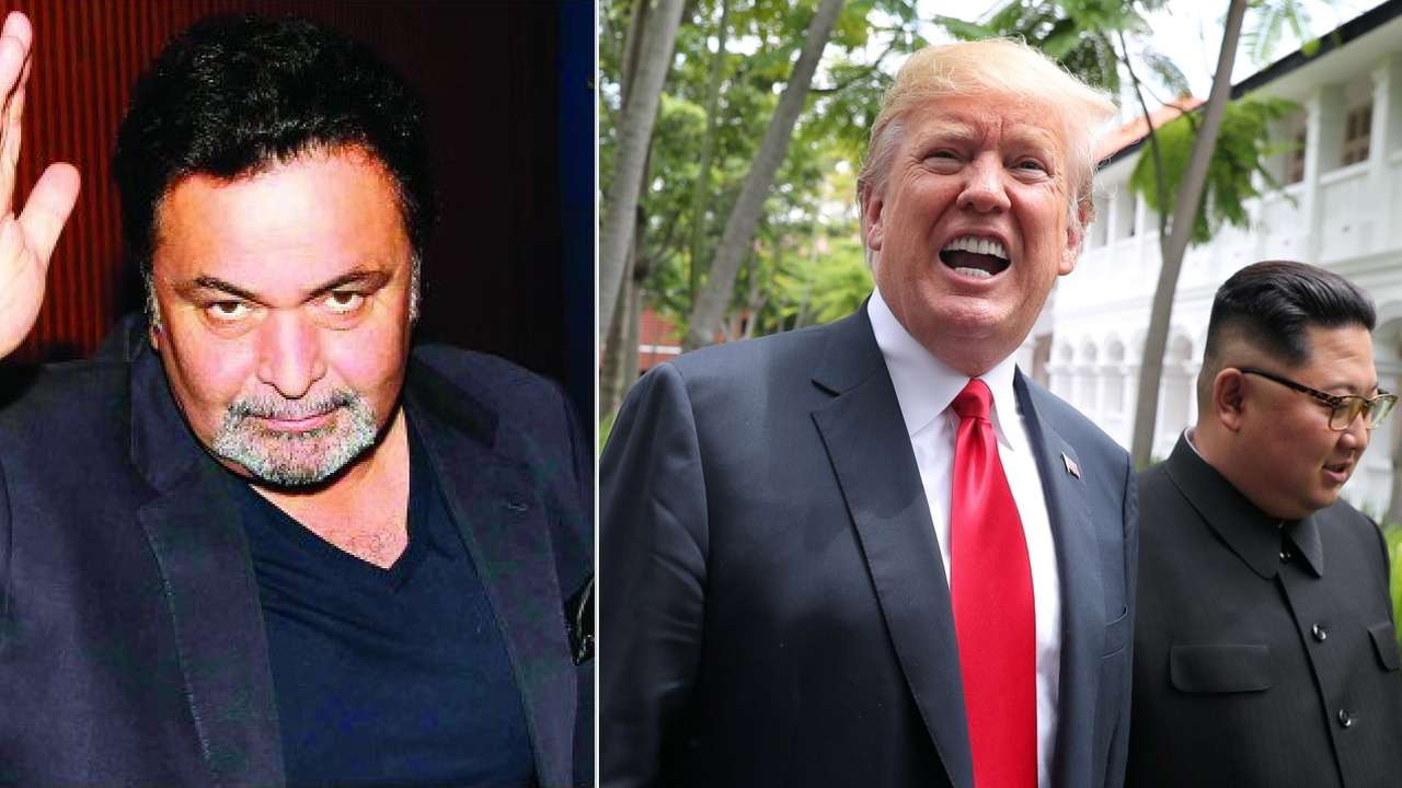 Rishi Kapoor Donald Trump and Kim Jong Un
