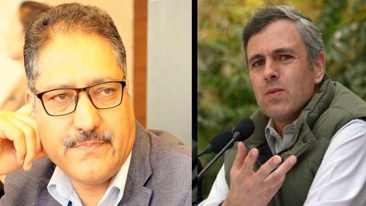 Image result for Shujaat bukhari and Omar Abdullah