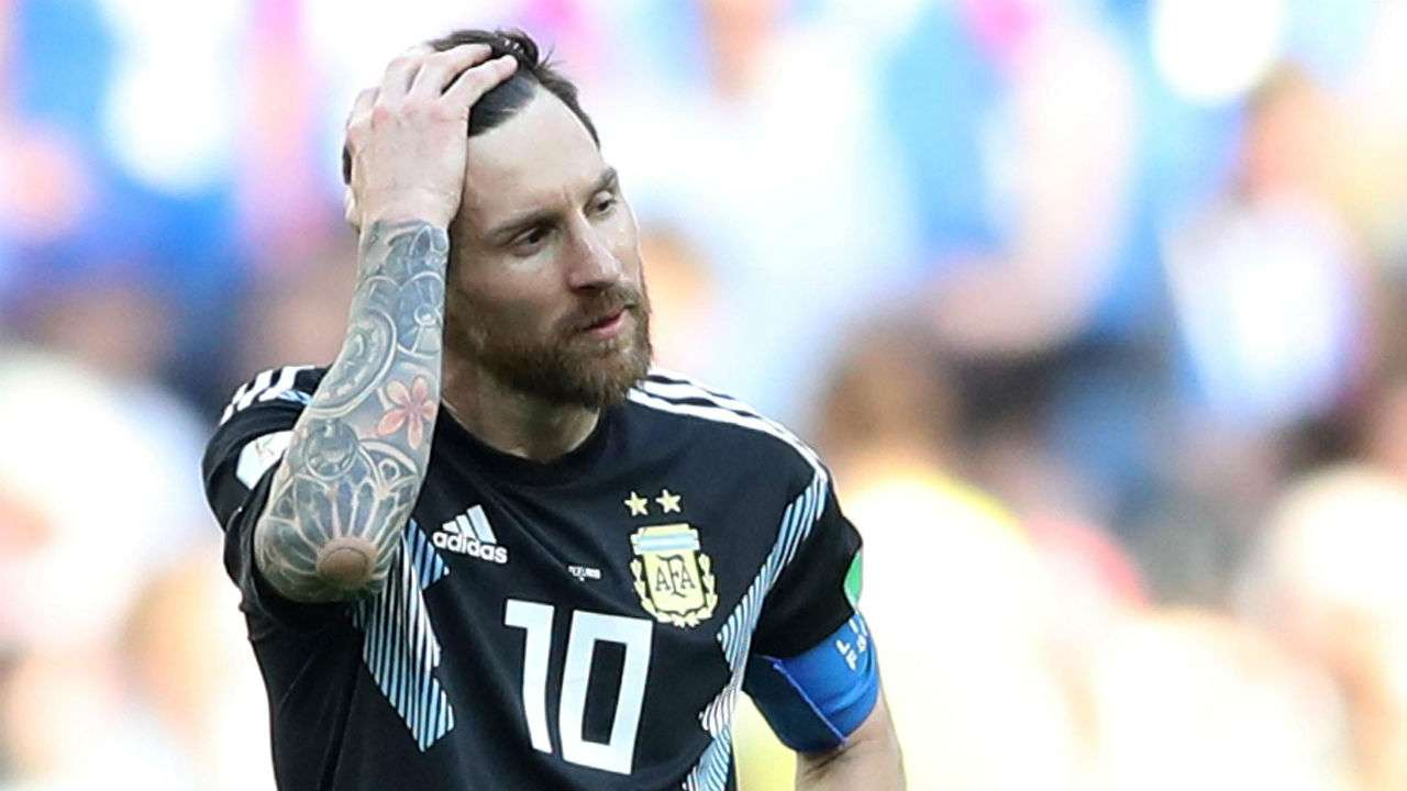 Image result for lionel messi world cup 2018, argentina 1 and iceland 1