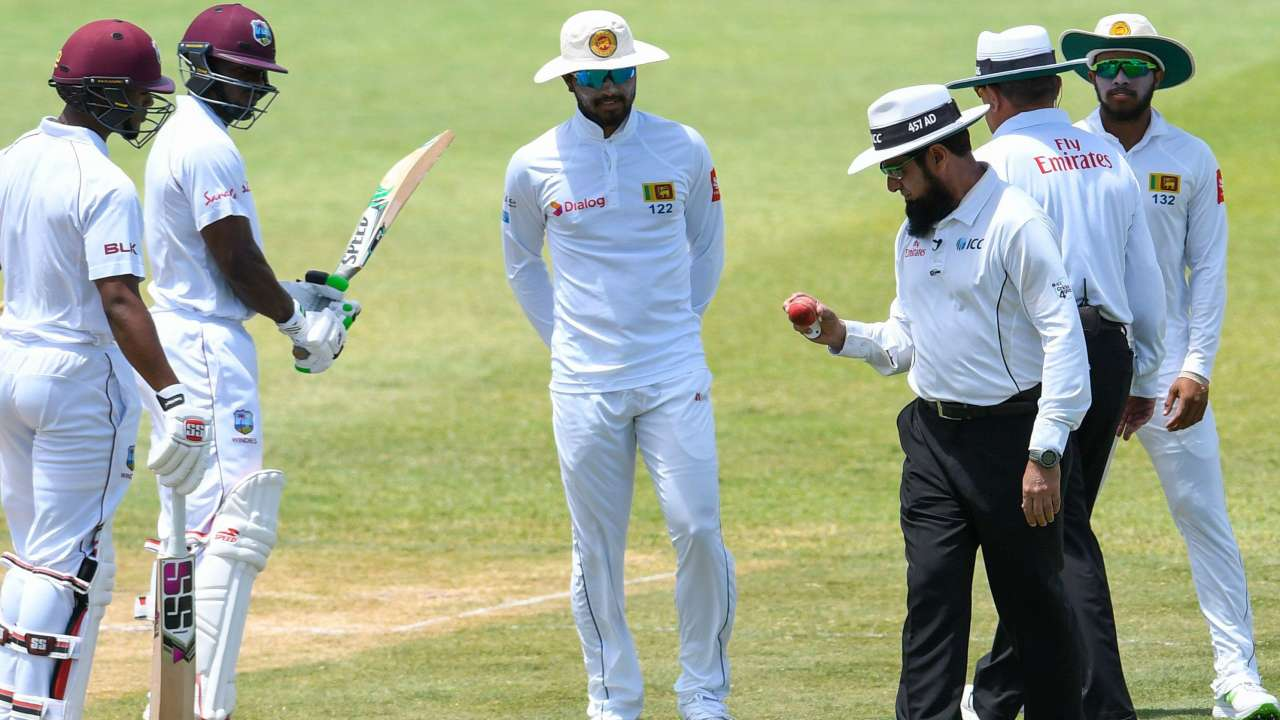 Sri Lankan captain Dinesh Chandimal during the ongoing second Test against West Indies in St Lucia