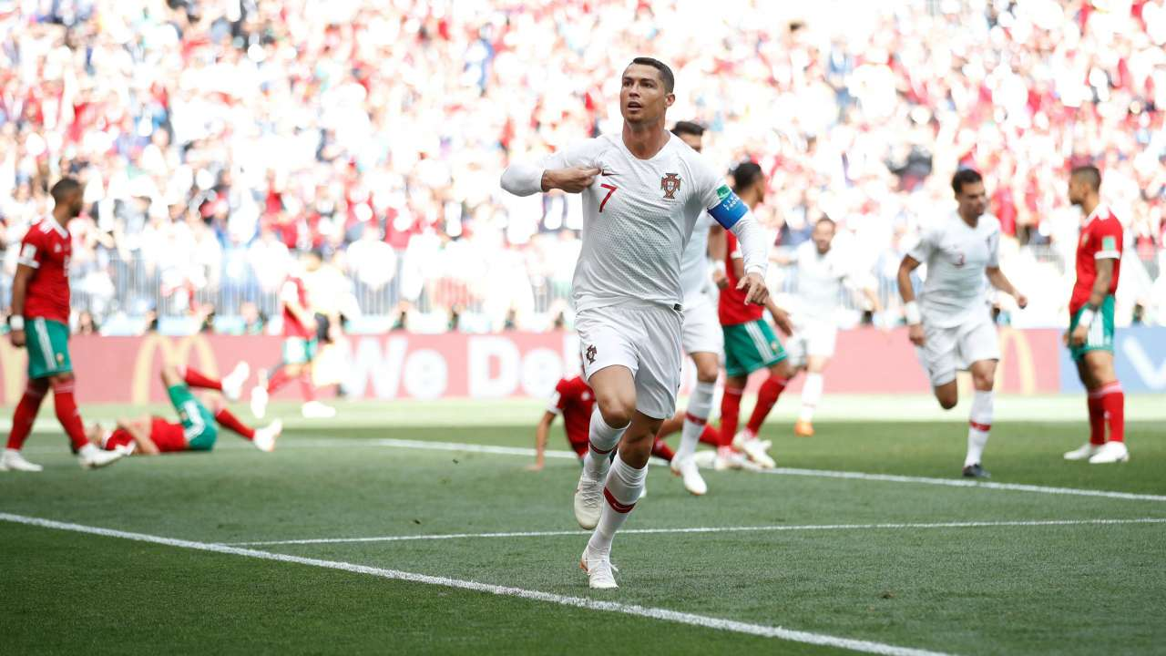 Portugal star becomes second leading global scorer with Morocco goal
