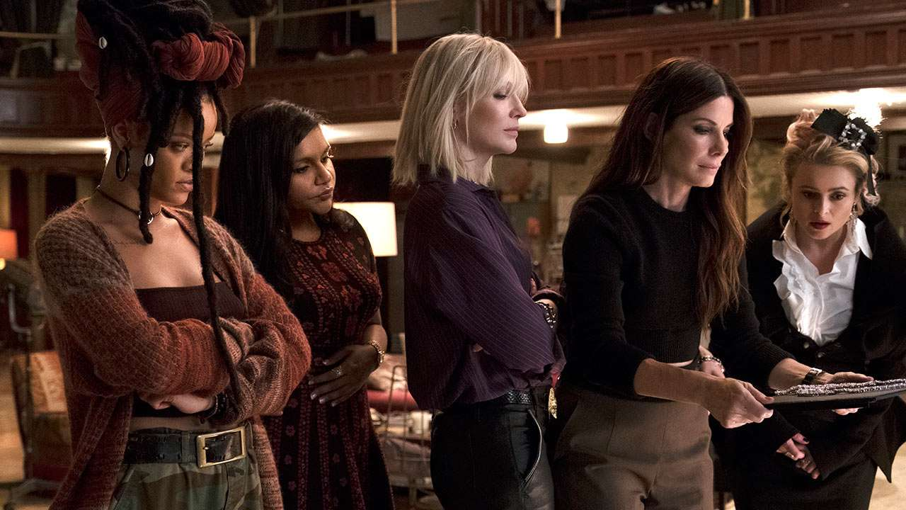 oceans 8 review allfemale starcast cannot save a