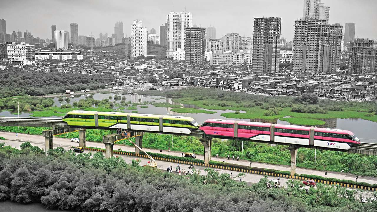 mumbai monorail Mumbai's chembur-wadala monorail section, which is india's first is set to be operational later this year the 1954 km monorail corridor is the world's second longest monorail corridor after japan's osaka corridor, which is 238 km six rakes will be pressed into service for phase i.