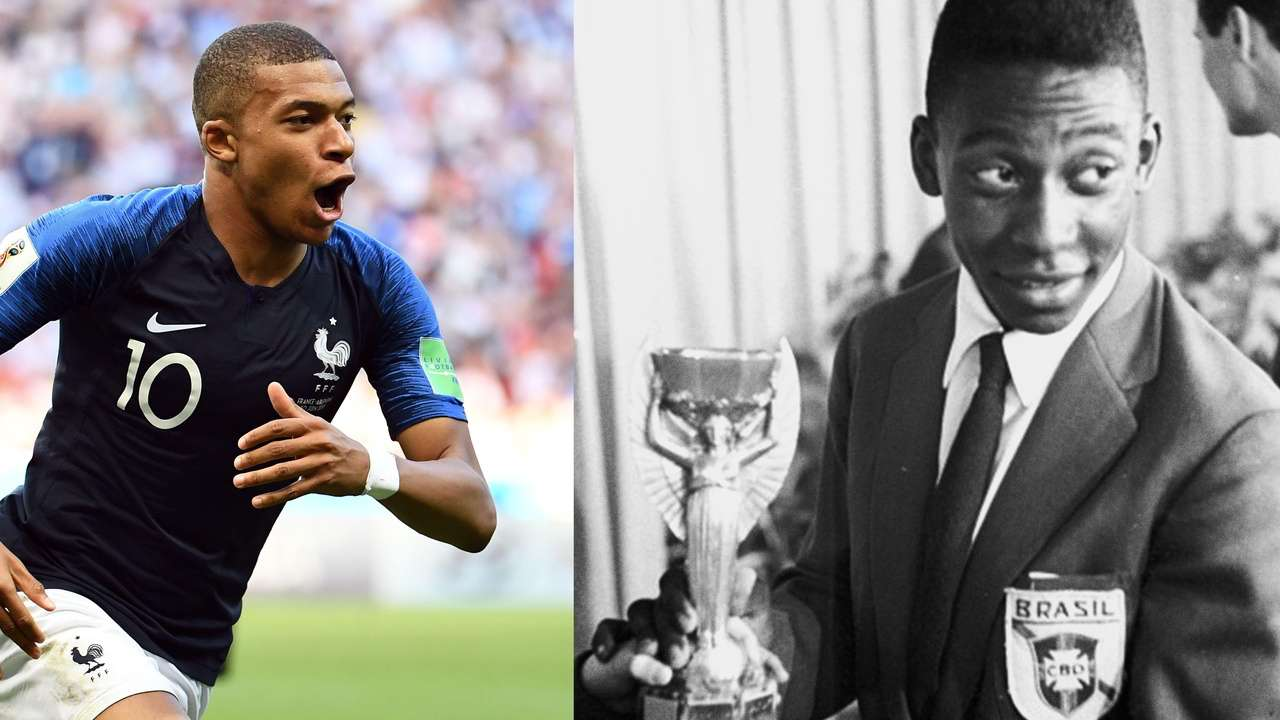 Image result for mbappe and pele
