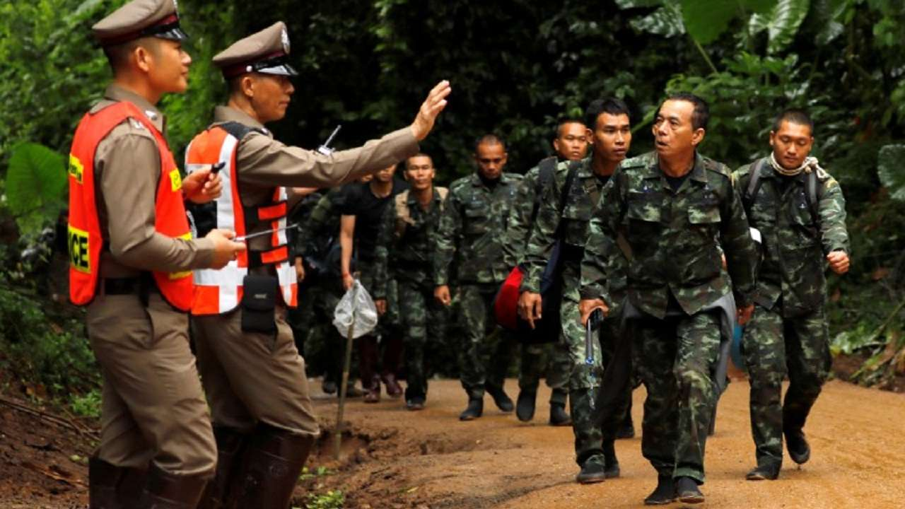 Image result for Risky Mission Underway to Save Thai Boys Trapped in Cave gif