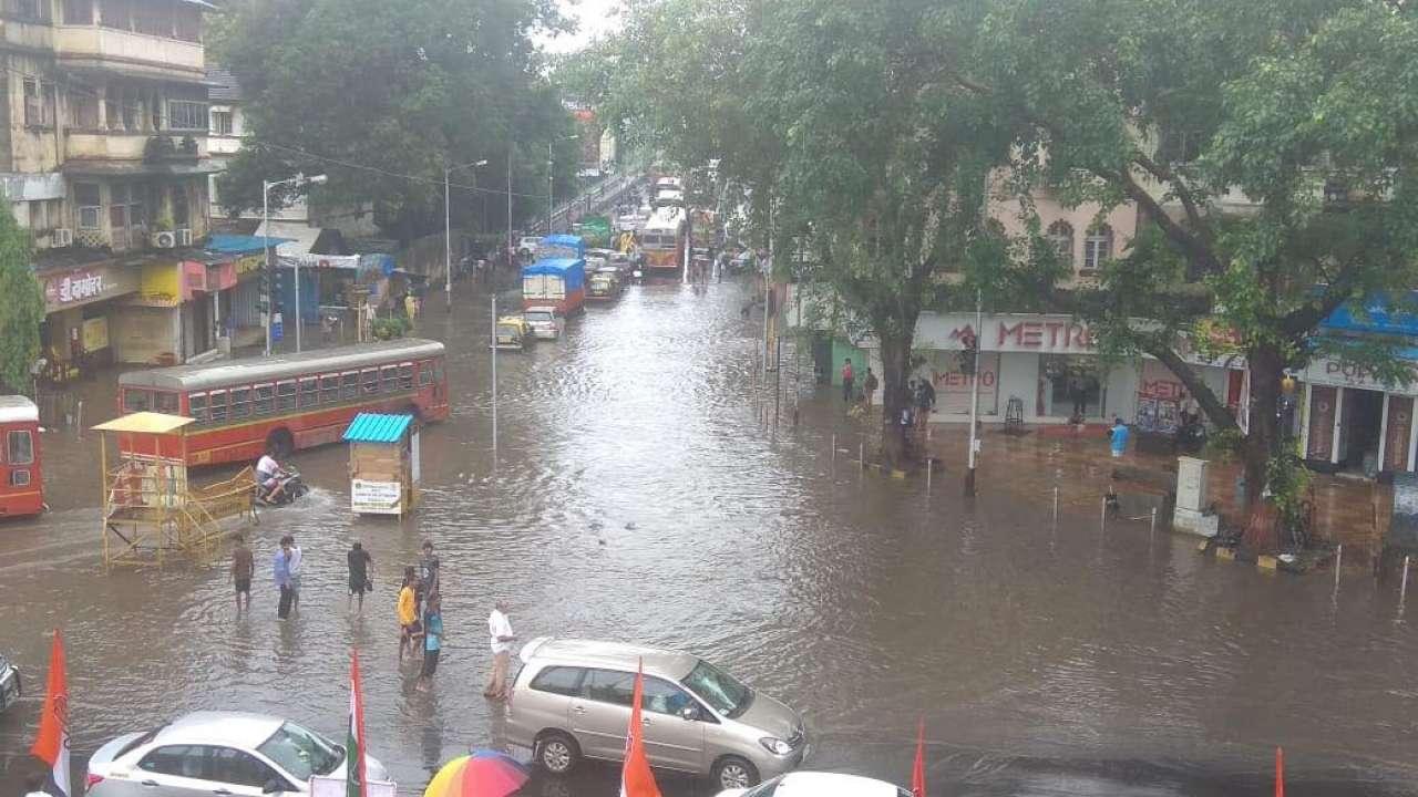 A flooded city