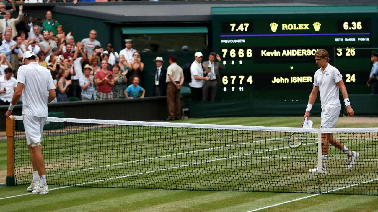 Anderson outslugs Isner in epic match to reach Wimbledon final