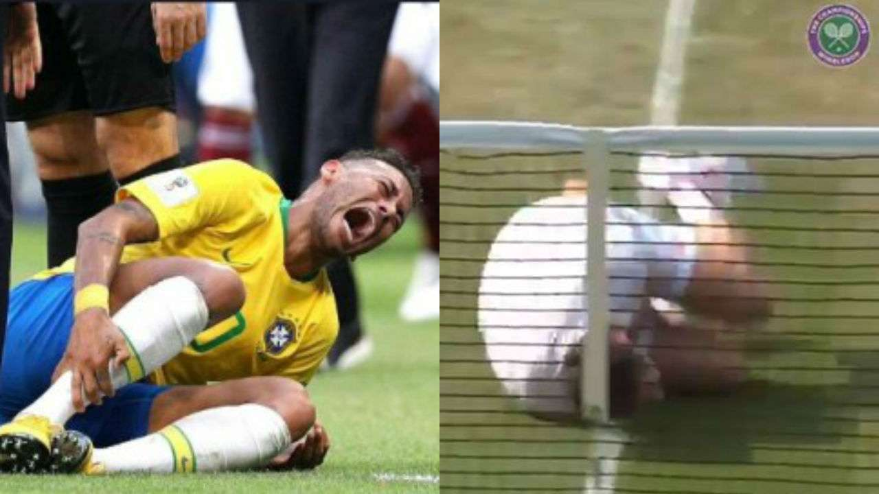 Wimbledon  Watch Tennis Player Mocks Neymar With Hilarious Neymarchallenge Attempt