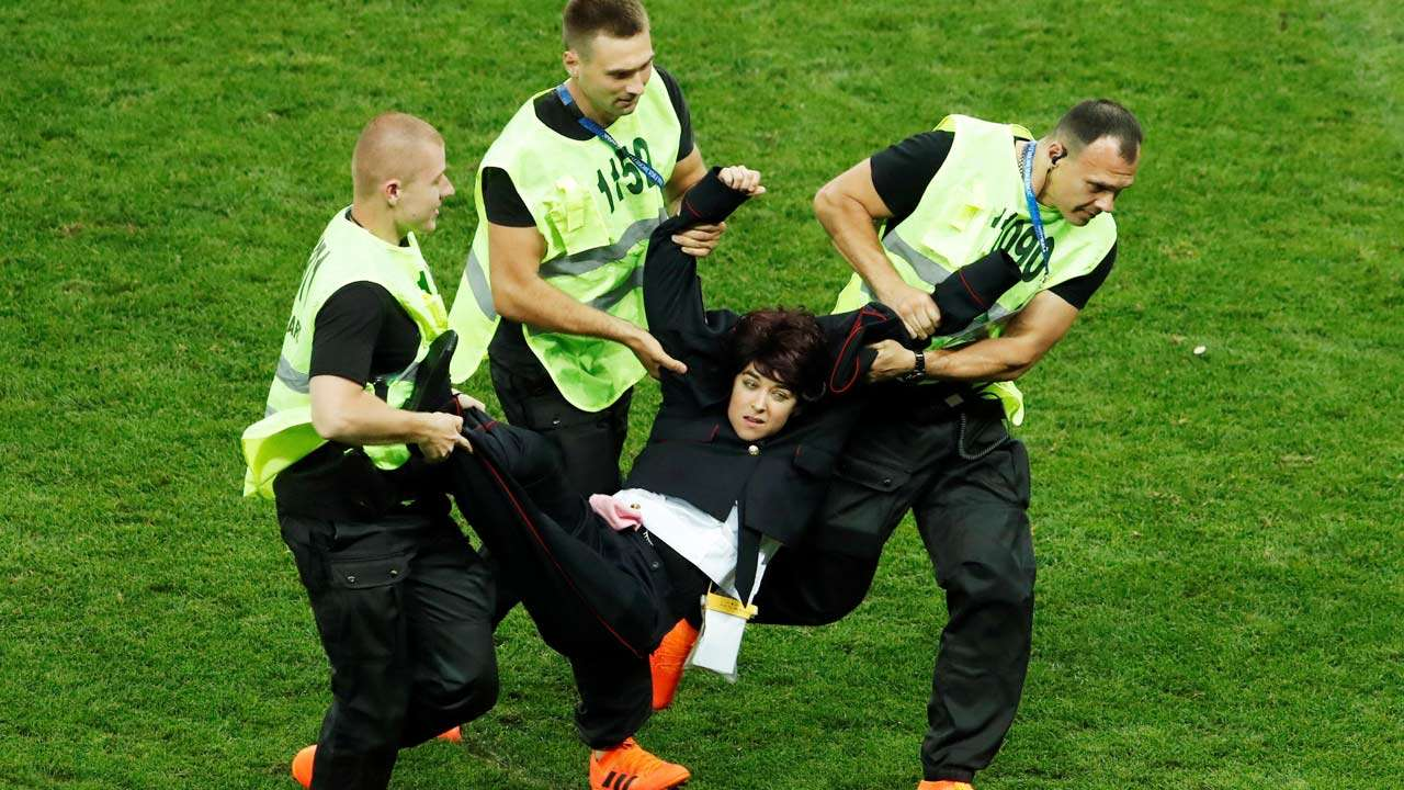 Pussy Riot pitch invaders