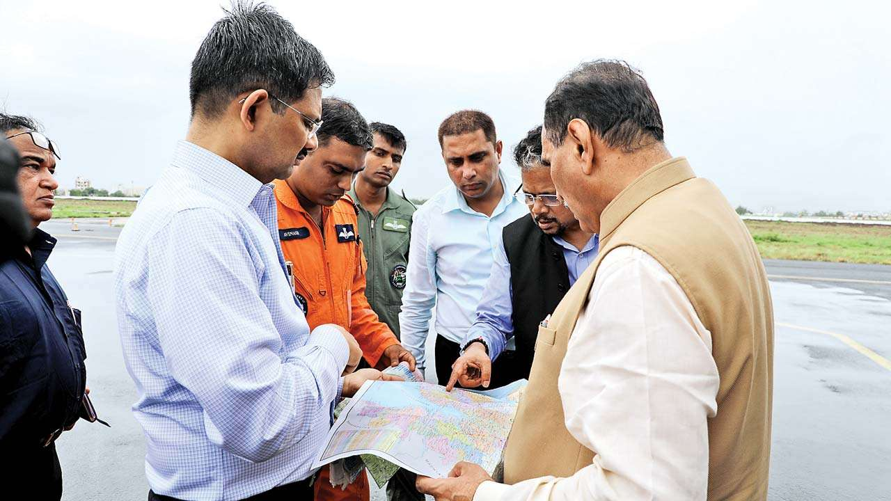 Gujarat CM Vijay Rupani surveys worst-hit Gir Somnath
