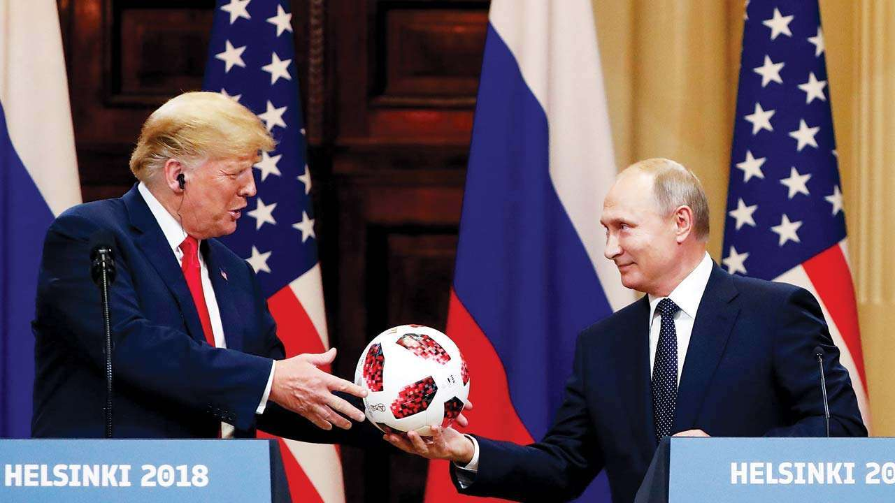 Vladimir Putin's soccer ball gift to Donald Trump
