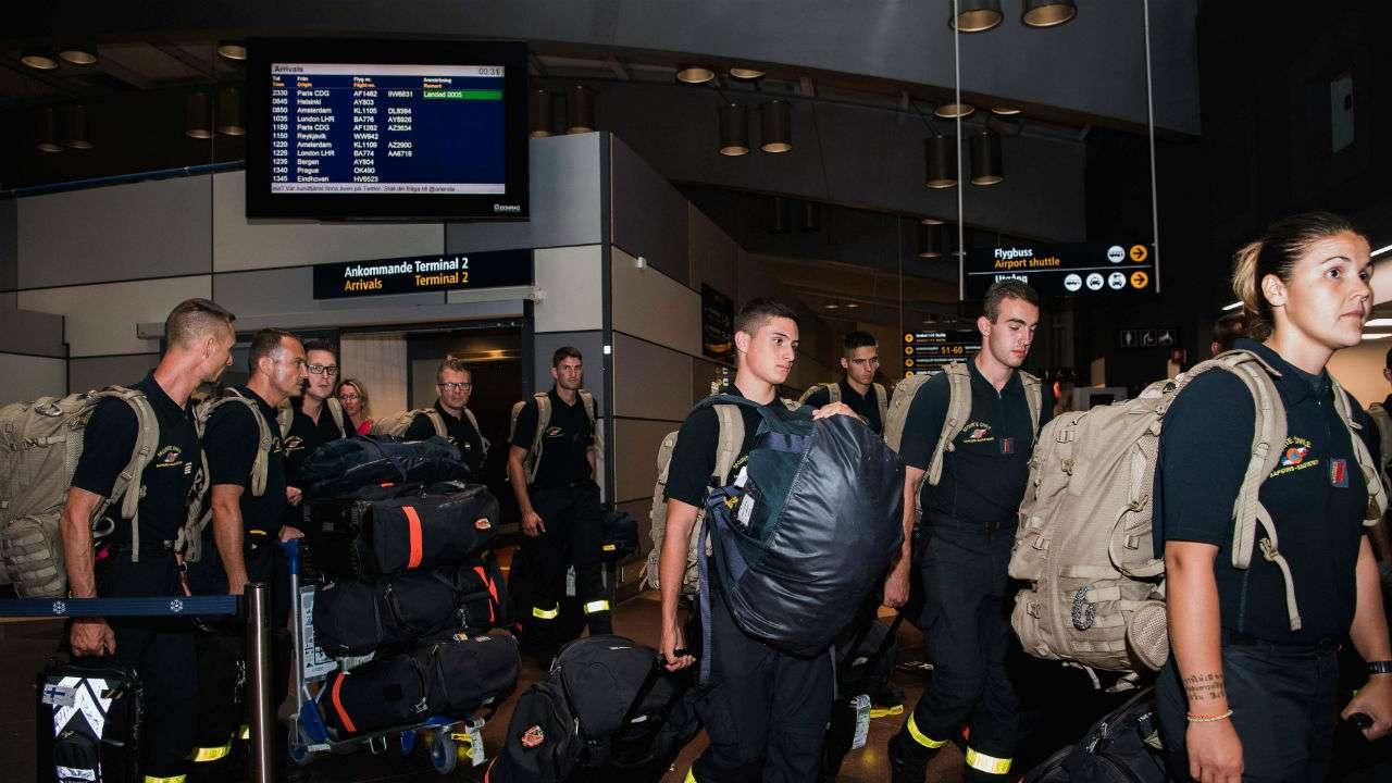 Firefighters from across Europe rush to help Sweden battle blaze