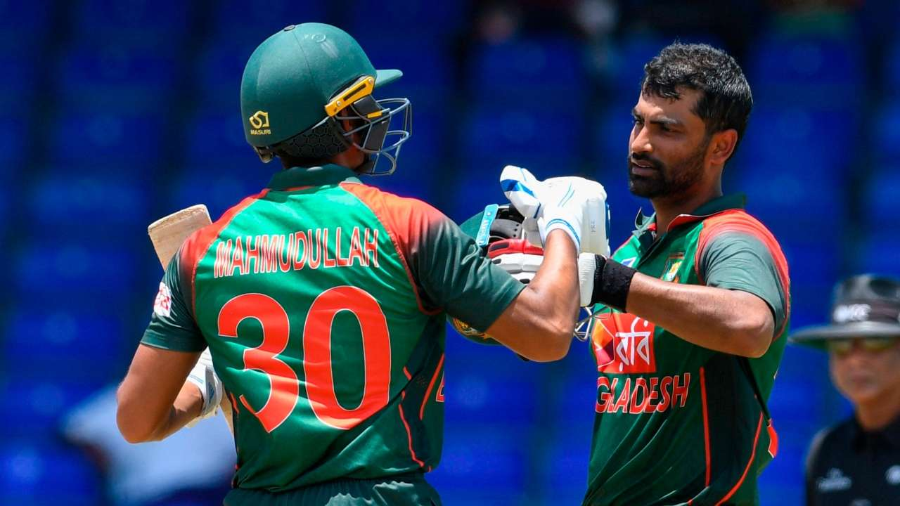 Tamim Iqbal scored 287 runs in the 3 match ODI series against West Indies. (Photo - getty)