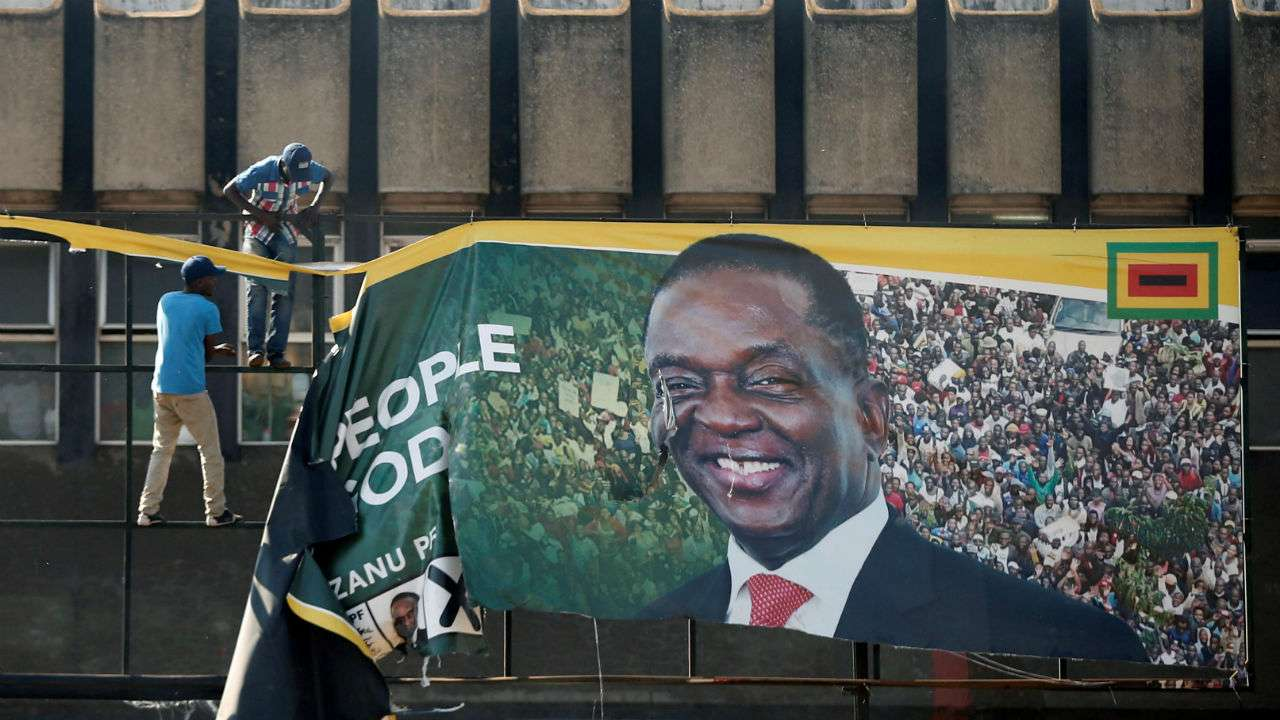Robert Mugabe's old party wins Zimbabwe election without him