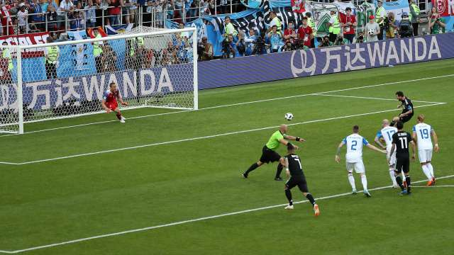 Lionel Messi misses a penalty on Saturday